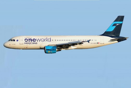 Mexicana OneWorld Airbus A320 XA-MXK AeroClassics AC411024 scale 1:400