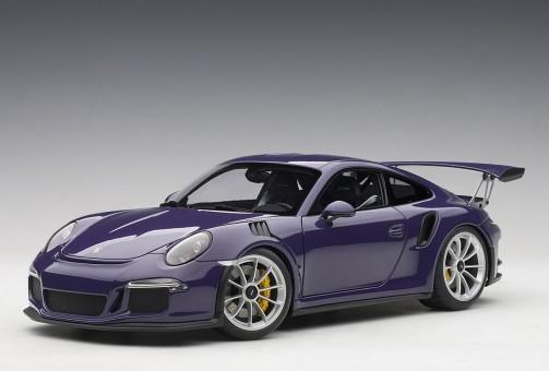 Porsche 911 GT3 RS UltravioletSilver Wheels AUTOart 78169 scale 1-18