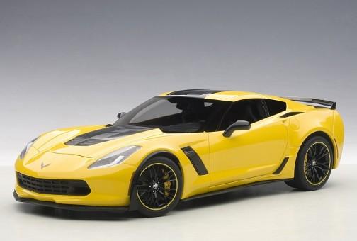 Yellow Chevrolet Corvette C7 Z06 C7R Edition Racing AUTOart 71260 1:18