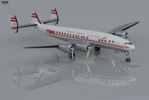 Trans World airlines TWA Lockheed L-1049G HL9001 Scale 1:200
