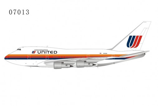 United Airlines Saul Bass Boeing 747SP N140UA large titles die-cast NG Model 07013 scale 1:400