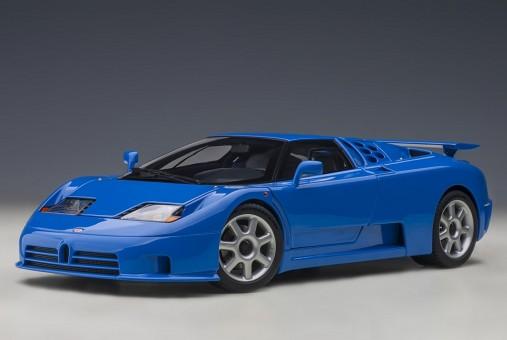 Blue Bugatti EB110 SS, French Racing Blue Black AUTOart 70917 die-cast scale 1:18