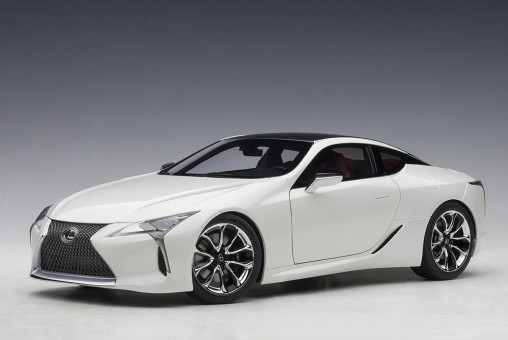 Metallic White Lexus LC500 AUTOart dark rose interior AUTOart 78872 scale 1:18