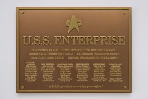 Limited! U.S.S. Enterprise Dedication Plaque NCC-1701-E Star Trek Universe Eagle Moss EM-STPLQ6