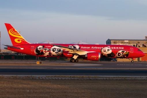 "Hainan Airlines (Red) Boeing 787-9 ""Kung Fu Panda"" B-6998  海南航空 Panda 02005 Scale 1:200"