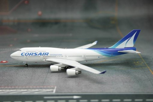 Corsair Boeing 747-400 Reg# F-GTUI Phoenix scale model 1:400