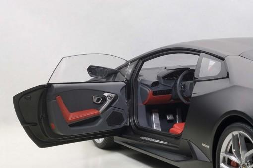 Composite Matt Black Lamborghini Huracan LP610-4 Nero Nemesis 12096 AUTOart Scale 1:12