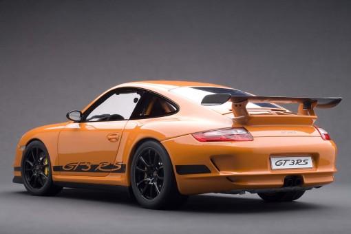 Porsche 997 GT3 RS (911/Carrera) Orange, Black Stripes 12117 AUTOart Die-Cast Scale 1:12