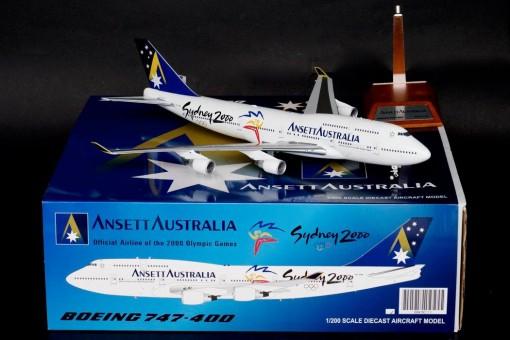 "Ansett Australia Boeing 747-400 ""Sydney 2000"" VH-ANA Blue Box / JCWings Scale 1:200"