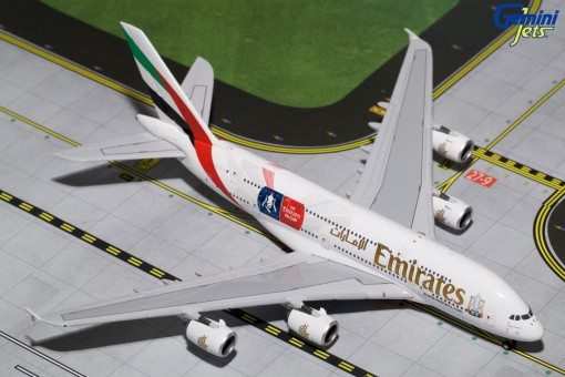 Emirates Airbus A380-800 FA Cup Reg# A6-EER Gemini Jets GJUAE1595 Scale 1:400
