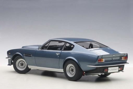 Blue Aston Martin V8 Vantage 1985 Die Cast Model AUTOart 70223 Scale 1:18