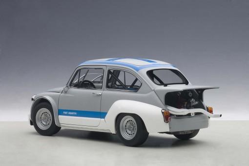 Matt Grey Fiat Abarth 1000 TCR Blue Stripes AUTOart Die-Cast 72642 1:18