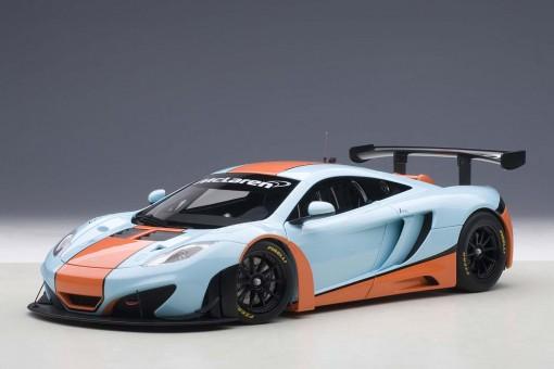 Blue/Orange McLaren 12C GT3 Gulf Livery AUTOart 81343 AUTOart scale 1:18