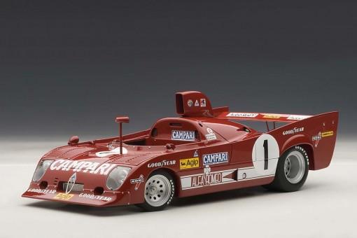 Alfa Romeo 33 TT 12 1000km Nurburgring Winner 1975 Merzario/Lafitte #1 87505 AUTOart 1:18
