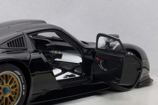 Black Porsche 911 GT1 1997 Plain Body AUTOart AU89770 Scale 1:18