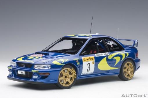 Blue Subaru Impreza WRC 1997 #3 89790 Rally of Monte Carlo AUTOart scale 1:18