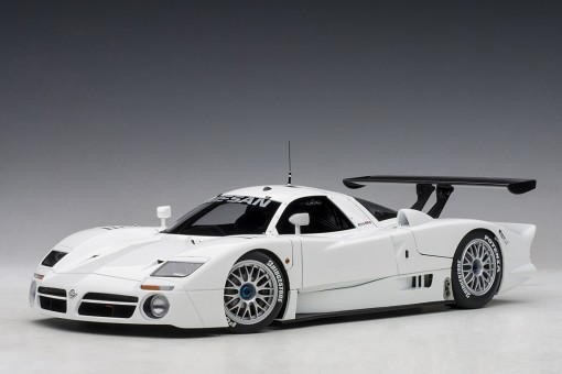 White Nissan R390 GT1 Lemans 1998 Limited 500 pcs Worldwide AUTOart AU89877 scale 1:18