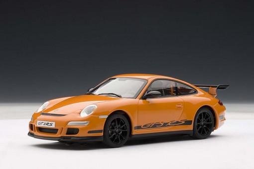 Porsche 911 (997) GT3 RS, Orange w/Black Stripes