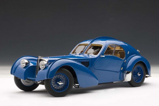 Bugatti 57SC Atlantic 1938, Blue w/Spoked Wheels