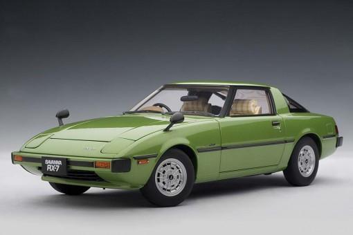 Sale! Mazda Savanna RX-7 (SA) Mach Green 75981 AUTOart 1:18