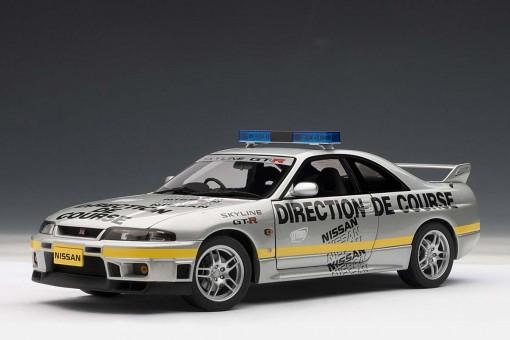SALE! Silver Nissan Skyline GT-R R33 Pace Car 1997 limited 2,000 pcs! AUTart 77329 1:18