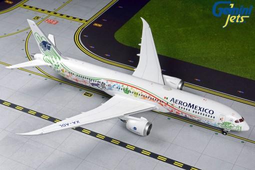 AeroMexico Boeing 787-9 XA-ADL Dreamliner Quetzalcoatl GeminiJets G2AMX838 scale 1:200