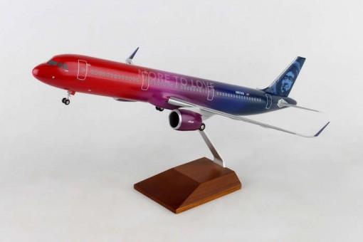 "Alaska A321neo ""More To Love"" Virgin merger livery N927AS Skymarks Supreme SKR8413 scale 1:100"