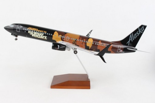 Alaska Our Commitment Boeing 737-900 scimitars N492AS Education powerful weapon change the world Skymarks Supreme SKR8287 scale 1:100
