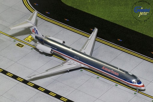 American Airlines MD-80 Polished N9621A Gemini 200 G2AAL760 scale 1:200