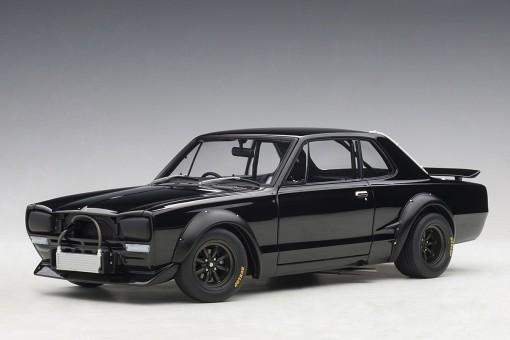 Black Nissan Skyline GT-R (KPGC-10) Racing 1972 AUTOart 87278 scale 1:18