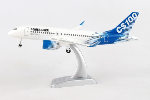 Bombardier CS100 House with gears & stand Hogan HGAS11 scale 1:200