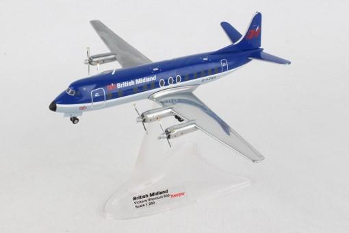British Midland Vickers Viscount 800 EG-AZNA Herpa 559591 scale 1:200