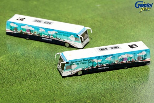 Greener US Airways Cobus 3000 Set of Buses G2USA574 Die-Cast 1:200