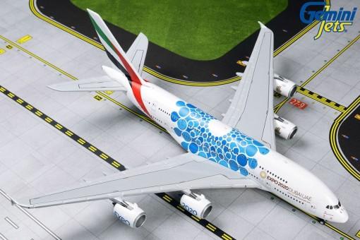 "Emirates A380 A6-EOC (""Expo 2020"" Blue Mobility Bubbles) GeminiJets GJUAE1833 1:400"