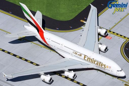 Emirates A380 A6-EUD Expo 2020 logo GeminiJets GJUAE1941 scale 1:400