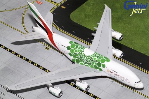 Green Emirates Airbus A380-800 A6-EEW Expo Dubai 2020 Gemini 200 G2UAE774 scale 1:200