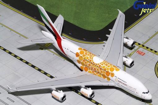 Emirates Airbus A380-800 A6-EOU Expo 2020 Orange Gemini GJUAE1815 scale 1:400