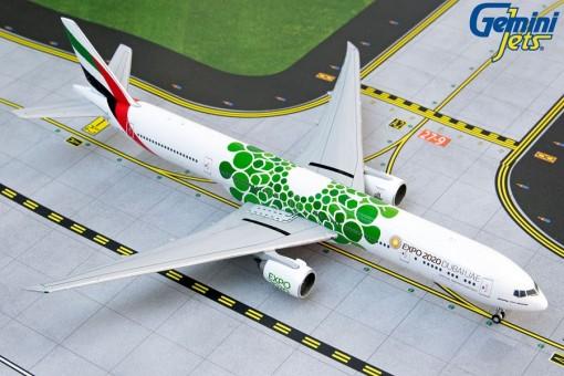 Emirates Boeing 777-300ER A6-EPU Green Bubbles Expo 2020 GJUAE1817 scale 1:400