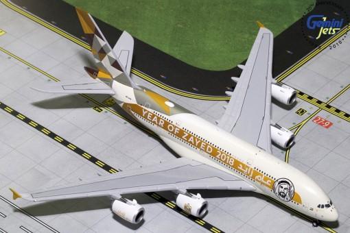 Etihad Airbus A380-800 A6-APH Year Zayed 2018 Gemini jets GJETD1813 scale 1:400