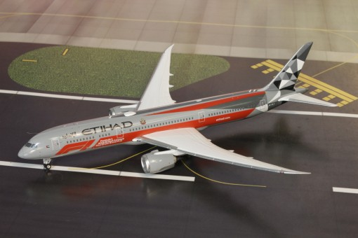 Etihad Boeing 787-9 F1 livery Dreamliner A6-BLV Phoenix 04243 scale 1400
