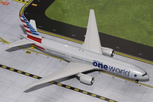 American Boeing 777-200ER Oneworld Reg# N796AN Gemini 200 G2AAL526 scale 1:200