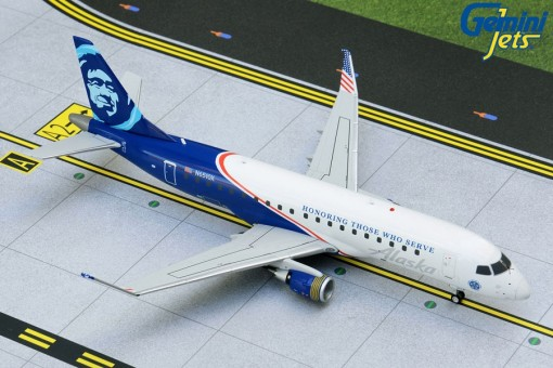 Alaska Embraer ERJ-175 N651QX Honoring Those Who Serve Gemini G2ASA886 scale 1:200