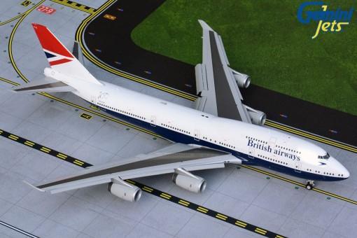 Flaps Down British Airways Boeing 747-400 G-CIVB Negus 100 years Gemini200 G2BAW841F scale 1:200