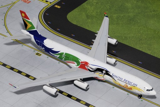 """South African Airways Airbus """"Siyanqoba"""" A340-300 Reg# ZS-SXD G2SAA378 Gemini Jets Scale 1:200"""