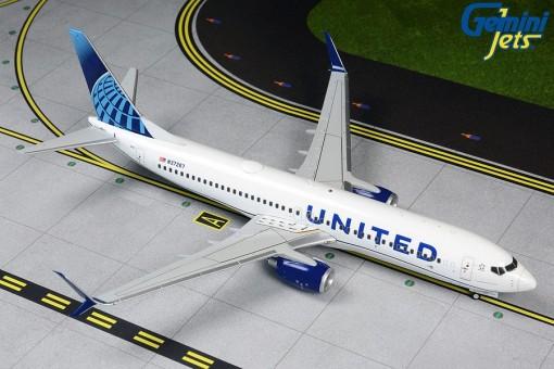 United Airlines Boeing 737-800 N37267 scimitars Gemini 200 G2UAL763 scale 1:200