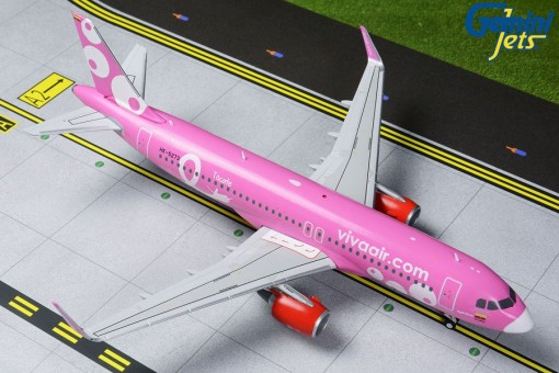 Viva Air Colombia Airbus A320-200 Pink HK-5273 Gemini G2VVC823 scale 1:200