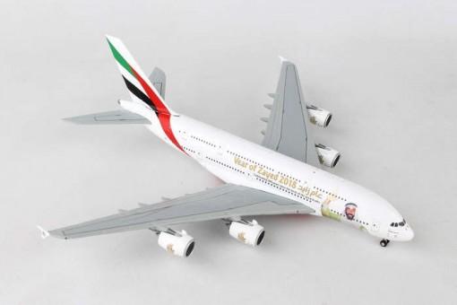 """Emirates A380-800 """"Year of Zayed"""" New Logo"""" A6-EUZ Geminijets GJUAE1747 Scale 1:400"""