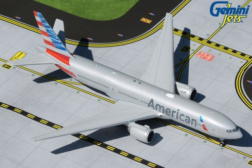 American Airlines Boeing 777-200ER N797AN new livery Gemini Jets GJAAL1869 scale 1:400