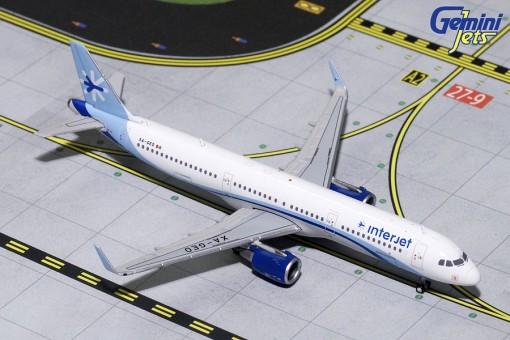 Interjet (Mexico) Airbus A321 Sharklets XA-GEO Gemini Jets GJAIJ1703 Scale 1:400