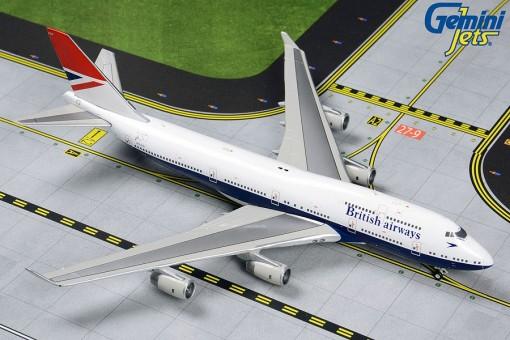 British Airways Negus Livery Boeing 747-400 G-CIVB 100 Years GJBAW1858 scale 1:400